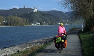 Cycling by the Rhine