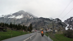 Crossing the Alps in April - Dea's first mountain pass