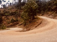 Steep roads in central Guatemala