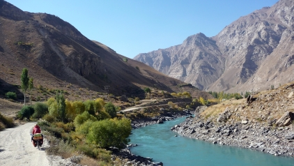 October colours along the Panj River, Tajikistan