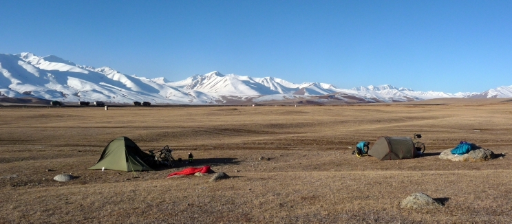 """Isn't this what we all dreamt of back home?"", Kyrgyz camp site"