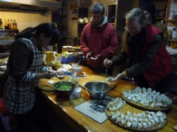 """Dumplinngs for leaving"" - the best send-off from our hostel hosts in Qingdao"